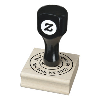 Personalized Family Address Rubber Stamp Gummistempel
