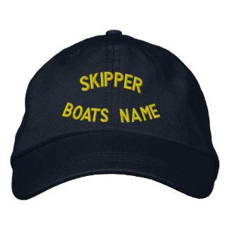 Personalzed Kapitän mit Ihrem Bootsnamen Bestickte Baseballcaps