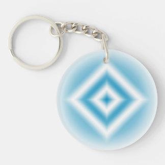 Personifizieren-Himmel blaue Diamantsteigung Schlüsselanhänger
