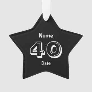 Personifizieren Sie 40. Ornament