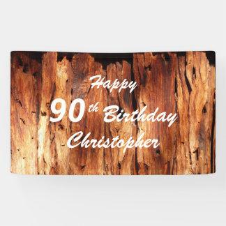 Personifizieren Sie 90. Geburtstags-Zeichen-Imitat Banner