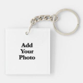 (Personifizieren Sie), addieren Sie Ihre Beidseitiger Quadratischer Acryl Schlüsselanhänger
