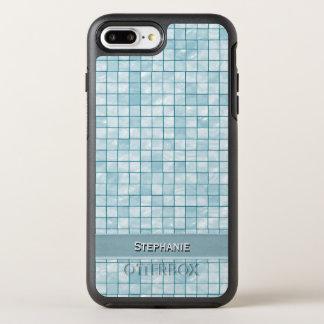 Personifizieren Sie: Aqua-dekoratives OtterBox Symmetry iPhone 8 Plus/7 Plus Hülle