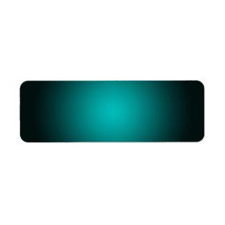 Personifizieren Sie - aquamarinen ombre Rücksende Aufkleber