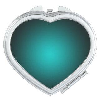 Personifizieren Sie - aquamarinen ombre Taschenspiegel