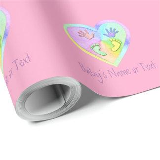 Personifizieren Sie Baby-Fuß-Babyparty-Packpapier Geschenkpapier