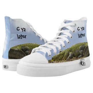 """Personifizieren Sie: """"C ya später"""" Alligatorwild Hoch-geschnittene Sneaker"""