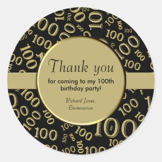 Personifizieren Sie:  Centenarian, 100. Runder Aufkleber