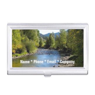 (Personifizieren Sie), Colorado-Strom-Foto - Estes Visitenkarten Dose