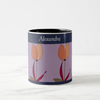 Personifizieren Sie diese gemusterte Tulpe Zweifarbige Tasse