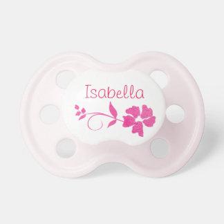 Personifizieren Sie diesen hübschen rosa Schnuller