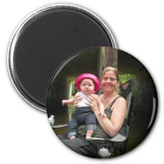 Personifizieren Sie diesen Kühlraum-Foto-Magneten Runder Magnet 5,1 Cm