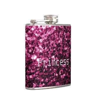 Personifizieren Sie dunkle rosa Glitter-Glitzern Flachmann