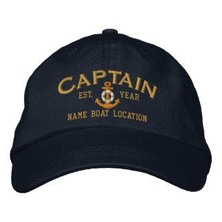 Personifizieren Sie für Jahr-Namen-Kapitän Bestickte Baseballkappe