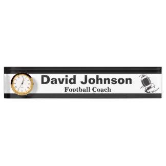 Personifizieren Sie Fußball-Trainer-Namensschild Schreibtischplakette