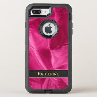 Personifizieren Sie: Girly Imitat pinkfarbenes OtterBox Defender iPhone 8 Plus/7 Plus Hülle