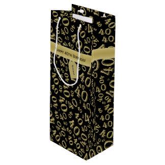 Personifizieren Sie:  Glückliches 40. Geschenktüte Für Weinflaschen