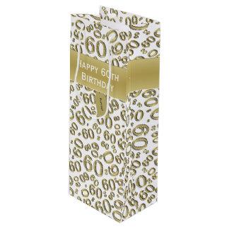 Personifizieren Sie:  Glückliches 60. Geschenktüte Für Weinflaschen