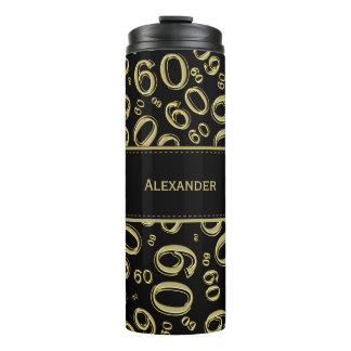 Personifizieren Sie: Gold-/schwarze der Nr.-60 Thermosbecher