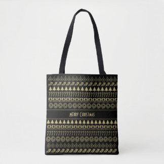 Personifizieren Sie: Gold und schwarzes Tasche