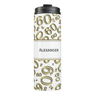 Personifizieren Sie: Gold-/weiße der Nr.-60 Thermosbecher
