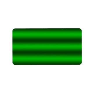 Personifizieren Sie - grünen ombre Adressaufkleber