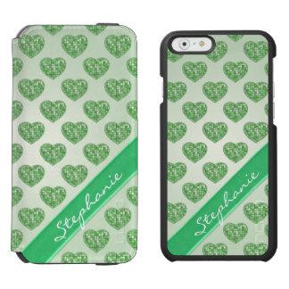 Personifizieren Sie: Grünen Sie Incipio Watson™ iPhone 6 Geldbörsen Hülle