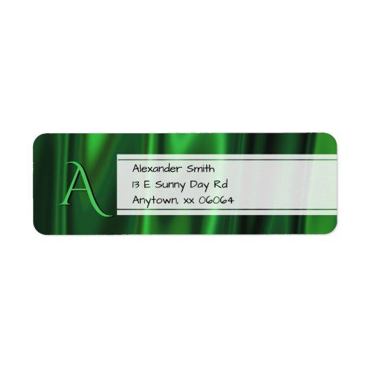 Personifizieren Sie:  Imitat-grüne Kleiner Adressaufkleber