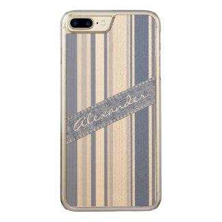 Personifizieren Sie: Klassische blaue und weiße Carved iPhone 8 Plus/7 Plus Hülle