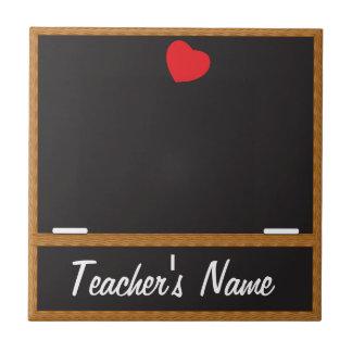 Personifizieren Sie Lehrer-Tafel Kleine Quadratische Fliese