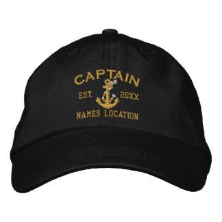 Personifizieren Sie leicht diesen Kapitän Rope Bestickte Kappe