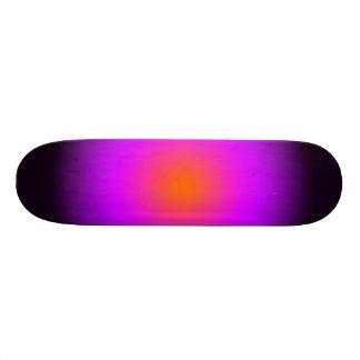 Personifizieren Sie - lila, orange, schwarzes Personalisiertes Skateboarddeck