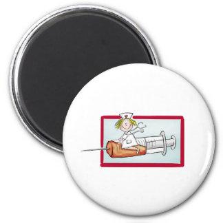 Personifizieren Sie mit Namen - die Superkrankensc Runder Magnet 5,7 Cm