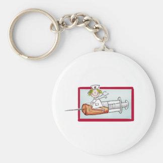Personifizieren Sie mit Namen - die Superkrankensc Standard Runder Schlüsselanhänger