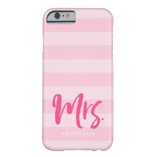 Personifizieren Sie mit Namensfrau Preppy Pink Barely There iPhone 6 Hülle