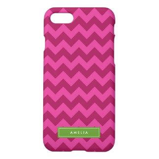 Personifizieren Sie mit Trendy lila NamensZickzack iPhone 7 Hülle