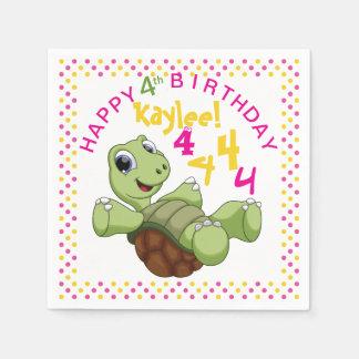 PERSONIFIZIEREN Sie niedliche Schildkröte-alles Papierservietten