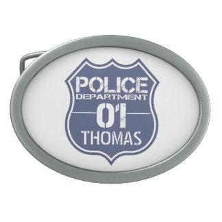Personifizieren Sie Polizeidienststelle-Schild 01 Ovale Gürtelschnallen