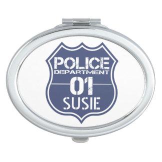 Personifizieren Sie Polizeidienststelle-Schild 01 Schminkspiegel