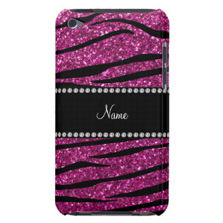 Personifizieren Sie rosa Glitter Barely There iPod Cover