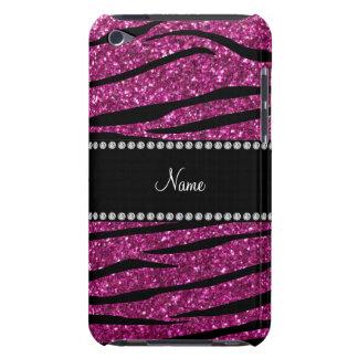 Personifizieren Sie rosa Glitter Zebranamensstreif iPod Case-Mate Case