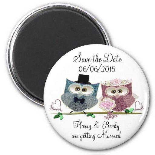 Personifizieren Sie Save the Date Wedding Magneten Magnets