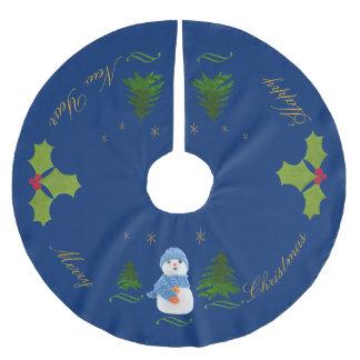 Personifizieren Sie, Schneemann, Weihnachtsbaum, Polyester Weihnachtsbaumdecke