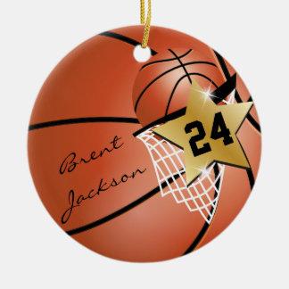 Personifizieren Sie Superstern-Spieler-Basketball Rundes Keramik Ornament
