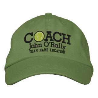 Personifizieren Sie Tennis-Trainer-Kappe Ihr Name Besticktes Baseballcap