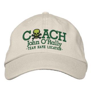 Personifizieren Sie Trainer-Schädel-Kappe Ihr Name Besticktes Baseballcap