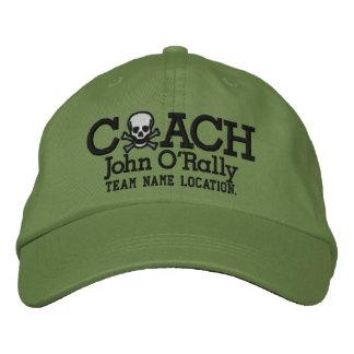 Personifizieren Sie Trainer-Schädel-Kappe Ihr Name Bestickte Baseballmütze