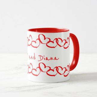 Personifizieren Sie:  Valentinsgruß-rote Tasse