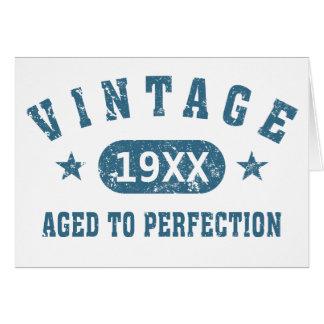 Personifizieren Sie Vintages gealtert zur Karte