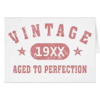 Personifizieren Sie Vintages gealtert zur Grußkarte